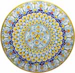 Ceramic Majolica Plate G03 G06 Yellow White Blue 52cm
