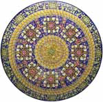 Ceramic Majolica Plate G04 G08 FDL Brown Blue Red 63cm