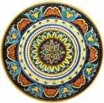 Ceramic Majolica Plate G04 Ricco Vario Scrolls 47cm
