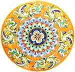 Ceramic Majolica Plate G06 G04 Dolphin Fish Orange 52cm
