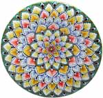 Ceramic Majolica Plate G06 Red Yellow Green 739 30cm