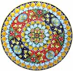 Ceramic Majolica Plate G08 FDL Red Light Blue 739 35cm