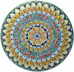 Ceramic Majolica Plate G08 Teal Red Green 739 35cm