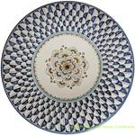 Ceramic Majolica Plate Peacock 30cm