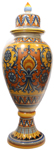 Italian Ceramic Floor Urn - Medieval Orange-Yellow