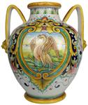 Italian Ceramic Floor Vase - Crane