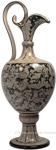 Ceramic Maiolica Anfora Pitcher Black White Birds 71cm