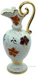 Ceramic Amfora Pitcher Gold Autumn Leaf