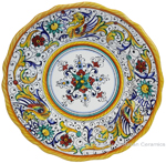 Deruta Italian Salad Plate - Raffaellesco Scalloped with Center