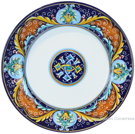 Deruta Italian Salad Plate - Ricco Vario 5