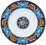 Deruta Italian Salad Plate - Ricco Vario 6