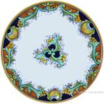 Deruta Italian Charger Plate - Vinci Ricco