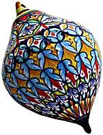 Ceramic Majolica Christmas Ornament Deruta Ricco 2 OV11