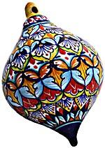 Ceramic Majolica Christmas Ornament Deruta Ricco V3 OV8