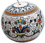 Ceramic Majolica Christmas Ornament Ricco Deruta 9cm