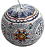 Ceramic Majolica Christmas Ornament Sphere Jubilant 9cm