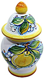 Ceramic Majolica Covered Jar Limoni Classic GG 17cm