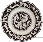 Deruta Italian Dinner Plate - Fondo Nero