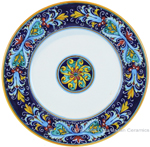 Deruta Italian Dinner Plate - Ricco Vario 4