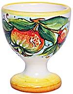 Ceramic Majolica Egg Cup Server Melograno Orange 6cm