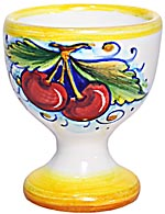 Ceramic Majolica Egg Cup Server Red Grape 6cm