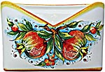 Ceramic Majolica Letter Holder Mail Pomegranate 24cm