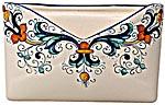 Ceramic Majolica Letter Holder Mail Ricco Deruta N 18cm