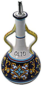 Ceramic Majolica Olive Oil Dispenser