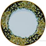 Deruta Italian Pasta Plate - Acanthus Black/Yellow