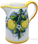 Ceramic Majolica Pitcher Lemons 1210 20cm