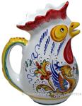 Ceramic Majolica Pitcher Rooster Raffaellesco 20cm