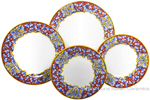 Deruta Italian Ceramic Dinner Place Setting - Acanthus Red/Yellow