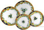 Deruta Italian Ceramic Dinner Place Setting - Vinci Ricco
