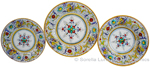 Deruta Italian Ceramic Dinner Place Setting - Raffaellesco with Center