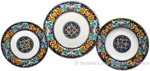 Deruta Italian Ceramic Dinner Place Setting - Ricco Vario 3