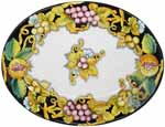 Deruta Italian Ceramic Oval Platter