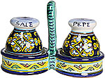 Deruta Italian Ceramic Salt and Pepper Service