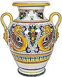Italian Ceramic Floor Vase - Raffaellesco