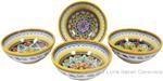 Italian Ceramic Maiolica Vario Bowl set GG 14cm
