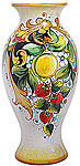 Deruta Italian Ceramic Vase - Lemons and Strawberries