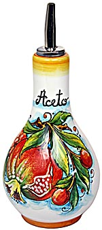 Ceramic Majolica Vinegar Dispenser Pomegranate 16cm