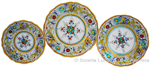 Deruta Italian Ceramic Dinner Place Setting - Raffaellesco Scalloped with Center