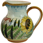 Tuscan Country Sunflower Pitcher
