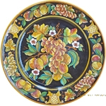 Deruta Italian Black Frutta Plate - 54cm