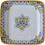 Italian Square Platter - Orange/Blue/Brown - 30cm