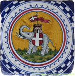 Tile Sienna Elephant (Torre)