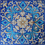 Tile Blue Diamond Weave