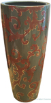 Vase - Brown with Gold Acanthus on Green