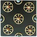 Tile - Gold Wheels on Black
