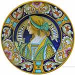Majolica Plate - FIDES AMOR F 25cm